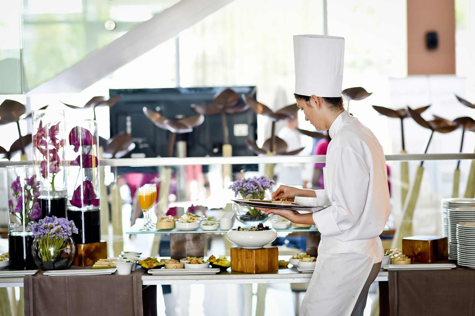 Déjeuner pour séminaire d'entreprise en format buffet