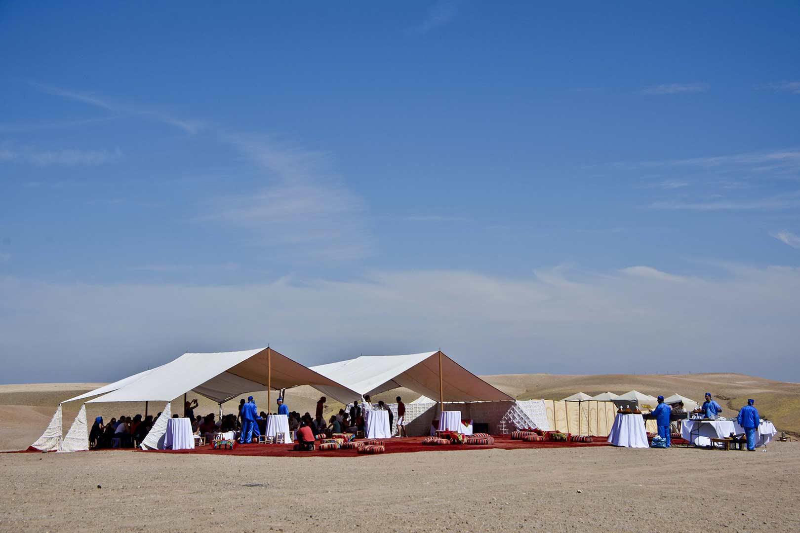 Lieu originale dans le désert marocain pour une expérience incentive